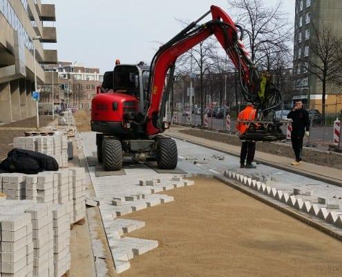 Machinale bestrating Heerbokelweg