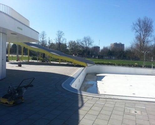 Bestrating zwembad de Fakkel Ridderkerk