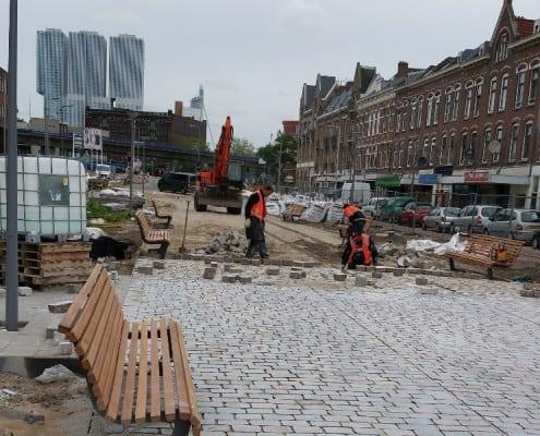 Straatwerk Pretorialaan Rotterdam