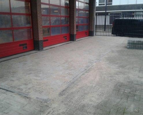 Bestrating voor Brandweerkazerne Maassluis