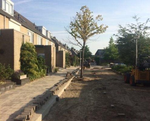 Herbestrating Frans Lebrethstraat Hendrik Ido Ambacht