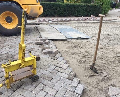 Herbestrating Esdoornlaan Gemeente Krimpen aan den IJssel