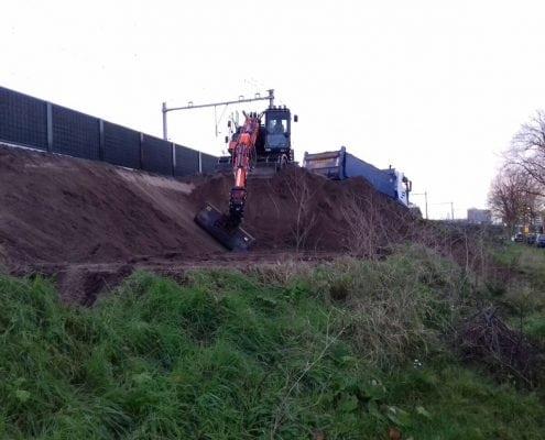 Graafwerkzaamheden t.b.v. voorbereiding tunnel