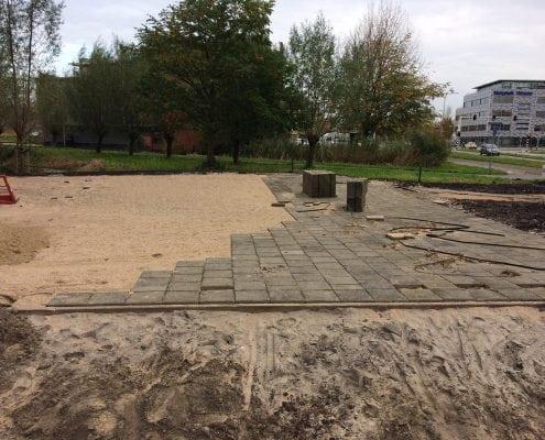 Bestrating Middenmolenplein Gouda