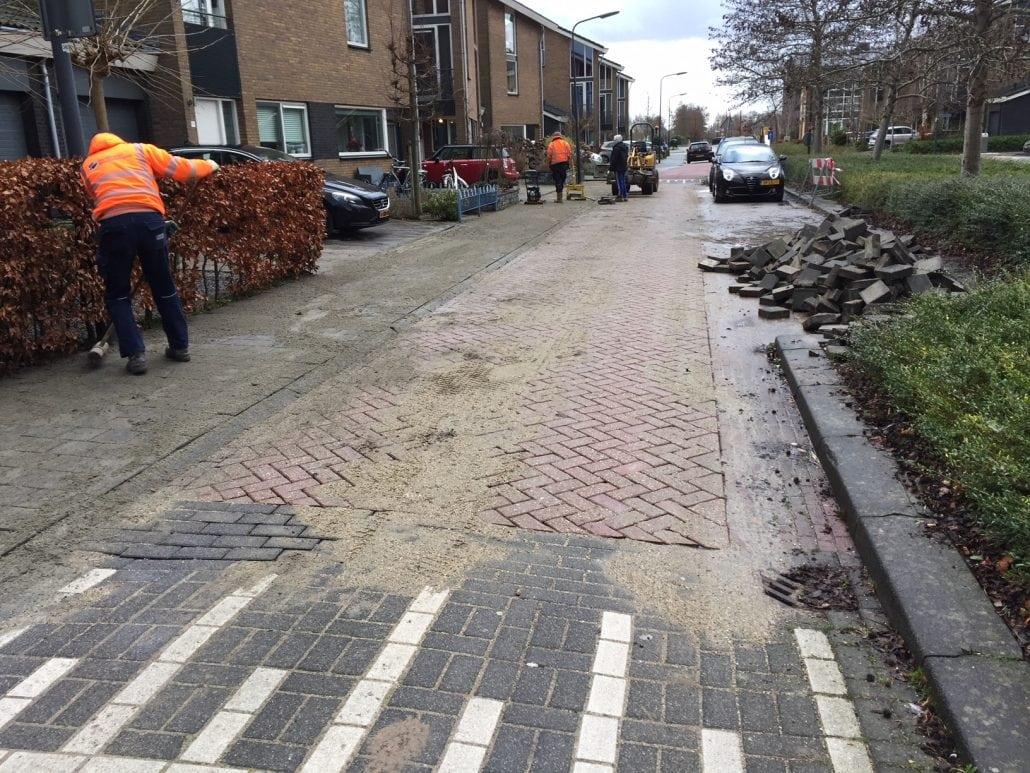 Hoflaan renovatie straatwerk