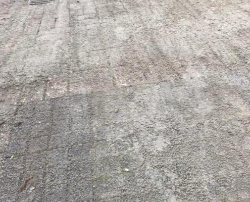Stoep en parkeervakken opnieuw bestraten Krimpen